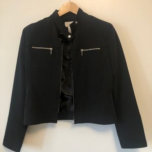 Black Jacket with front zip pockets